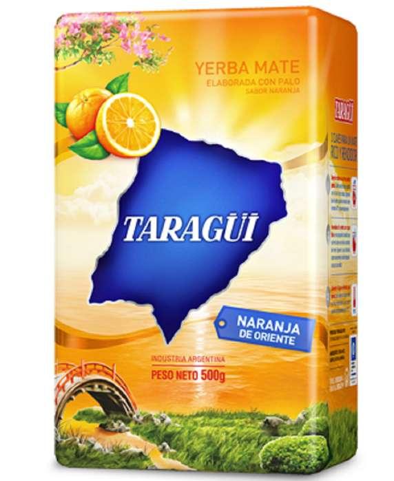 Venta de Paquete de Yerba Mate Argentina de 500 Gramos de la marca Taragui sabor a Naranja de Oriente