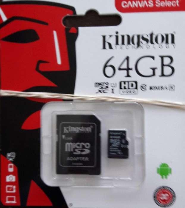 Micro SD Kingston 64 Gb Clase 10