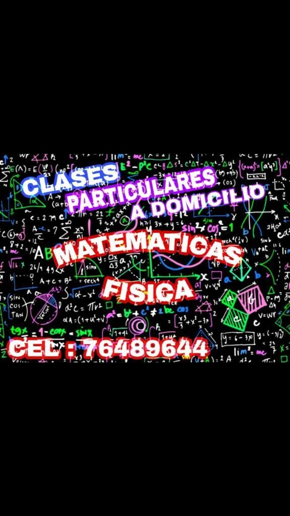 Clases Particulares Mate Y Fisica