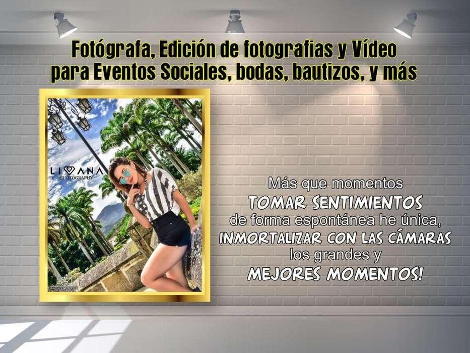 Fotógrafa, Edición de Vídeo para Eventos Sociales, bodas, bautizos, y más