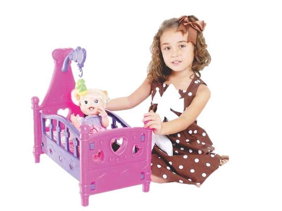 Cuna Para Muñecas Princesa Niña Musical Juguete Infantil