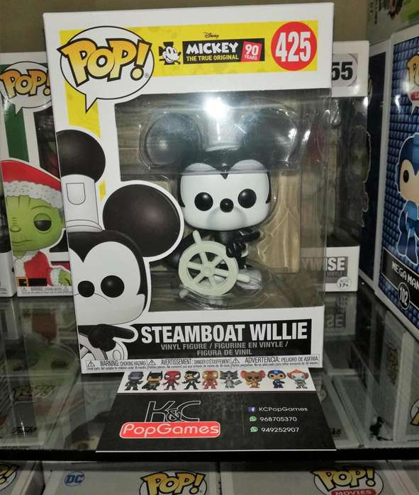 Funko Pop Mickey Mouse Steamboat Willie