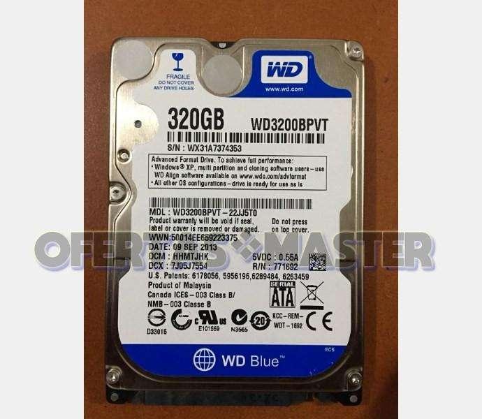 Disco Duro Wester Digital 320GB Sata para Portátil