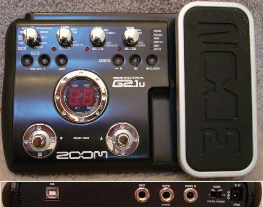 Pedalera Zoom G2.1u Guit Electcomo Nueva
