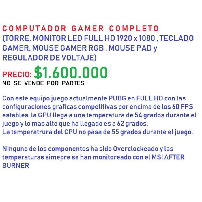 Computador Gamer Ordenador Gamer PC GAMER Computador juegos 1080p 60fps