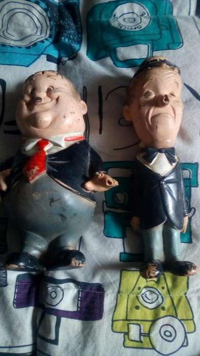 Muñecos Antiguos El Gordo Y Flaco Bartop