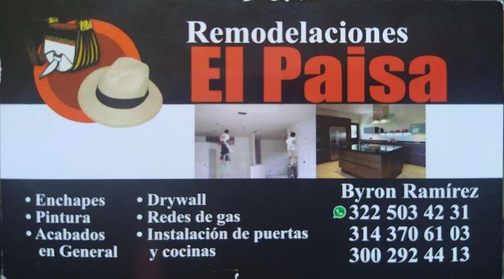 Remodelaciones el Paisa