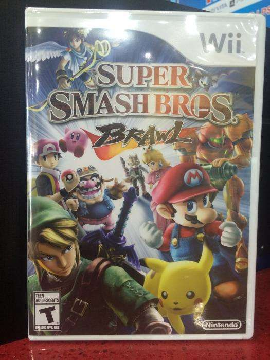 Super Smash bros brawl juego disco de nintendo wii