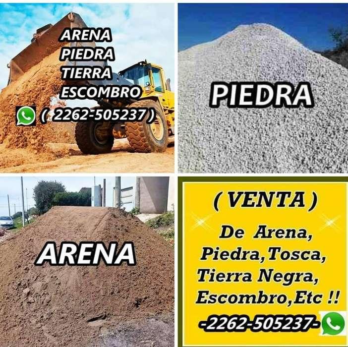 VENTA: de Tierra Negra, Arena, Piedra, Tosca, Escombros Picado,Etc !!! Movimiento de Suelos, Alquiler de Pala ,