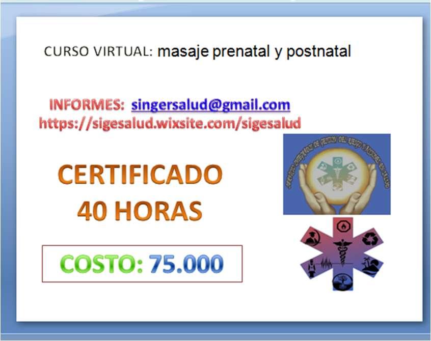 75.000 curso virtual: masaje prenatal y postnatal