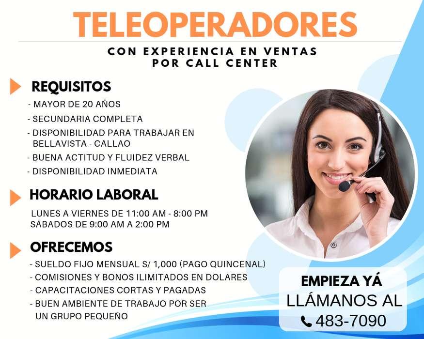 CALL CENTER PERUANO/A C/EXPERIENCIA