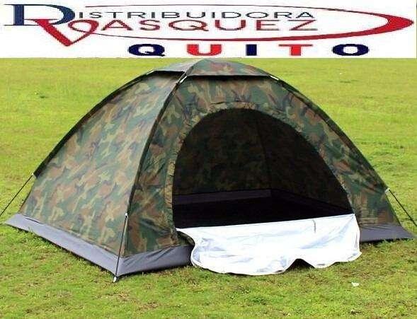 Carpa Camping Para 4 Personas CAMUFLADA
