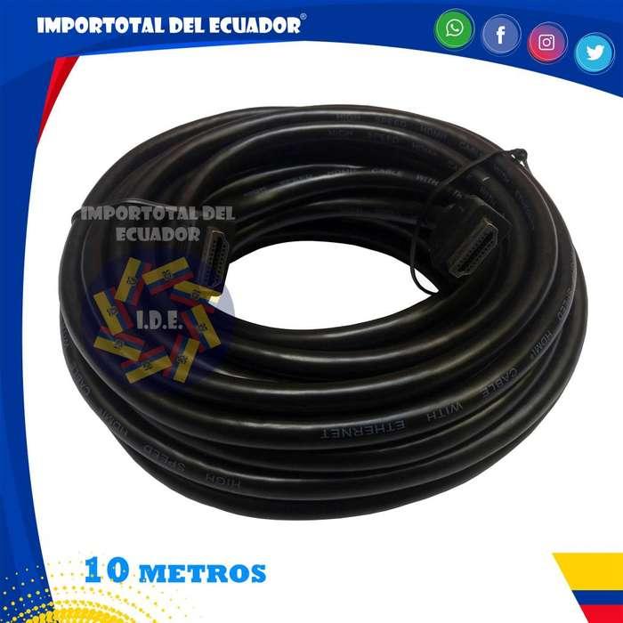 Cable HDMI ''nuevo'' tipo flexible versión 1.4 / hd, full hd, 3d, con ethernet y 4k a 24 hz / Longitud 10 metros