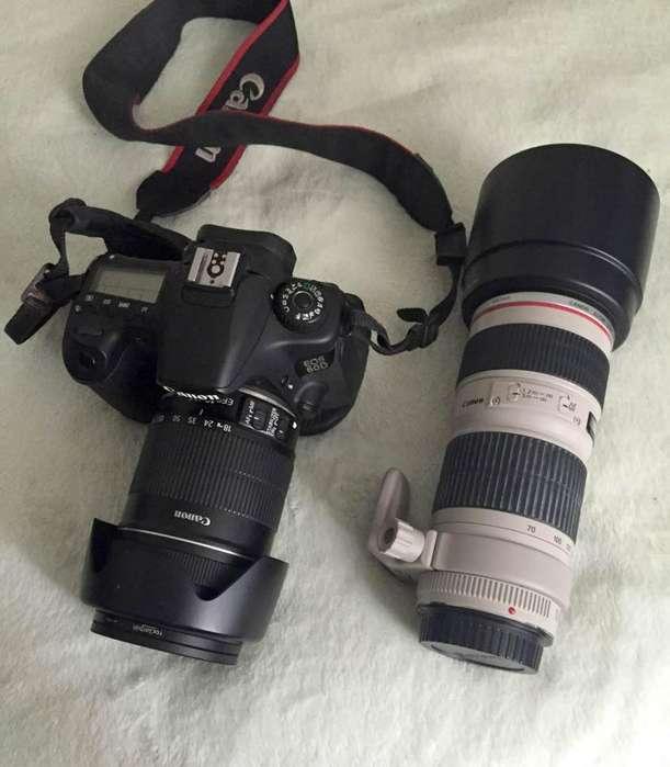 Vendo Camara 60D Tele 70-200 y muchos <strong>accesorios</strong>.