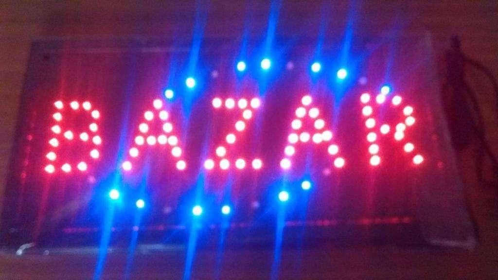 Cartel LED BAZAR