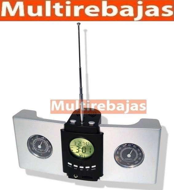 Reloj <strong>radio</strong> con fecha Hora brujula