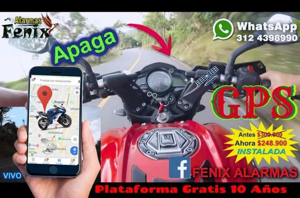 Alarma GPS satelital Plataforma en VIVO para Moto a Domicilio control y sirena NO PAGAS MENSUALIDAD