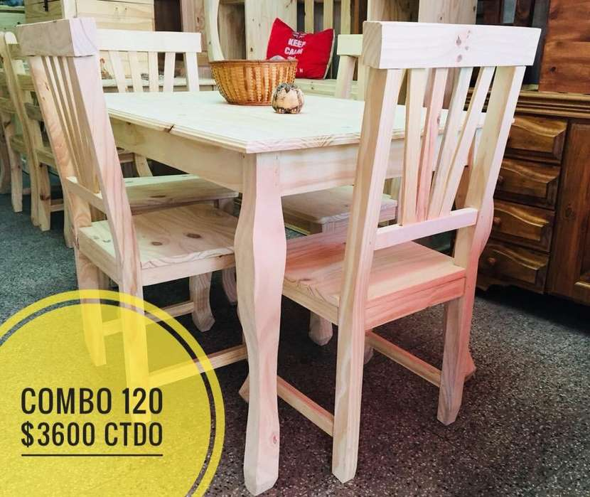 Mesa 120 4 sillas