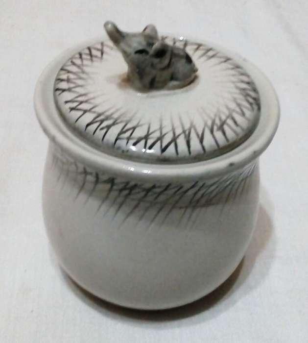 Antigua azucarera elefante de porcelana