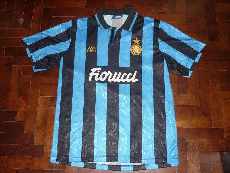 Hermosa Camiseta Umbro Inter De Italia 1993 Talle L