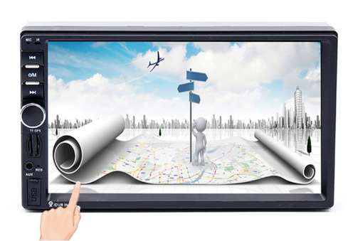 Radio para carro pantalla táctil de 7 pulgads bluetooth usb GPS SATELITAL mirrolink 2 din nuevo