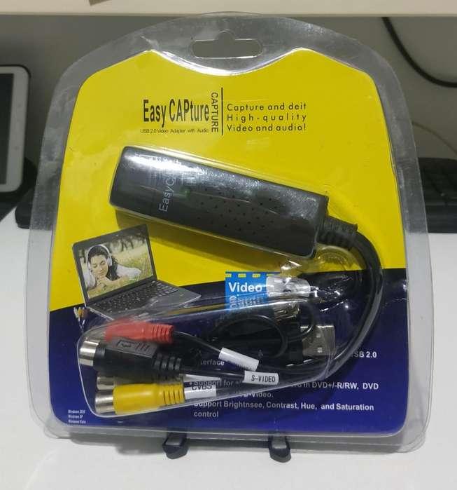 Capturadora de Video Easy Capture USB Video Adaptador con Audio
