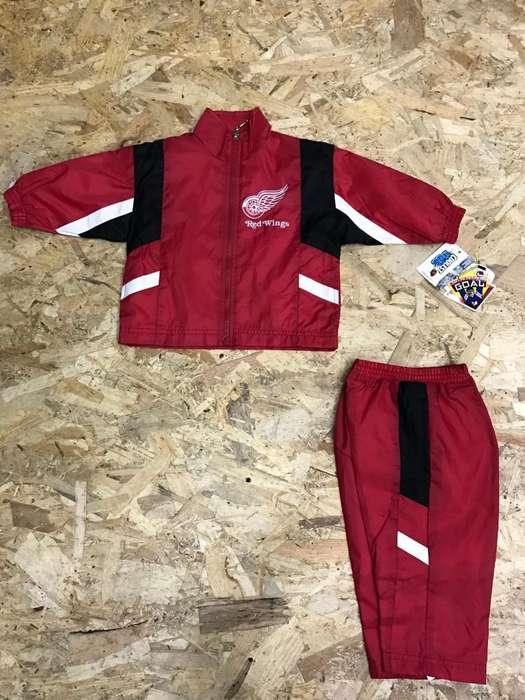 Sudadera Bebe Vintage NHL Detroit Red Wings 12,18 Meses