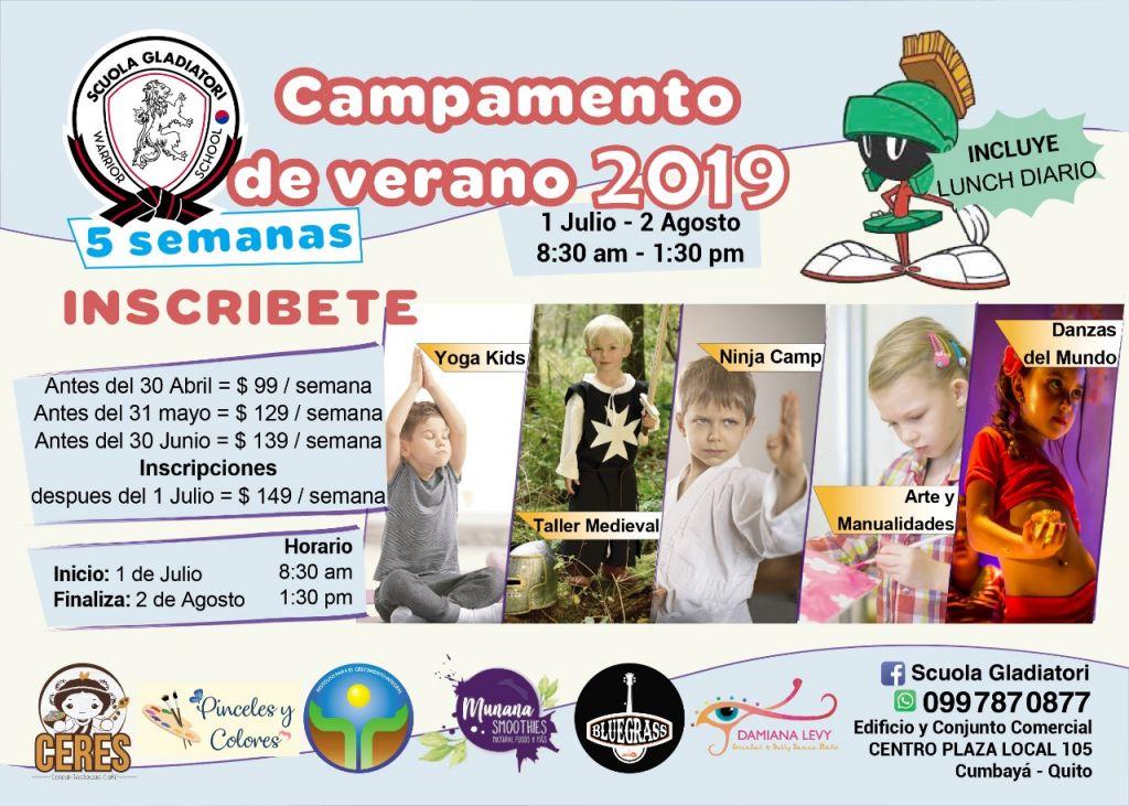 CURSOS VACACIONALES CAMPAMENTO DE VERANO ARTES MARCIALES KARATE KIDS YOGA DANZA ARABE ARTE MANUALIDADES