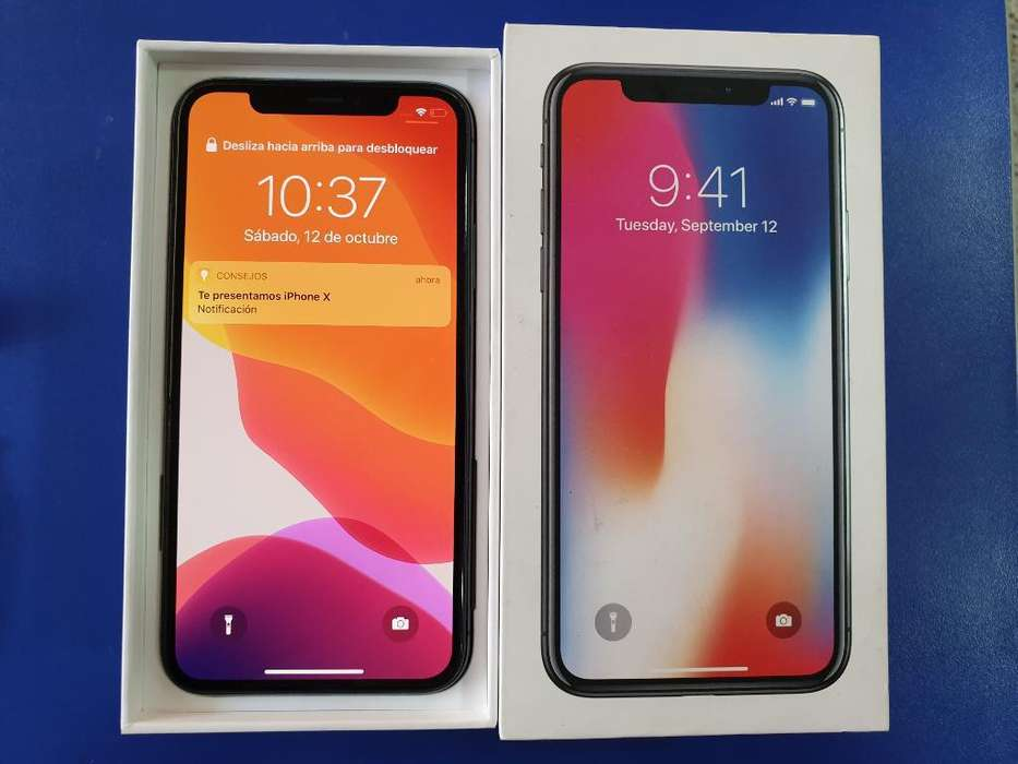 Apple iPhone X con Caja Y Cargador 64gb