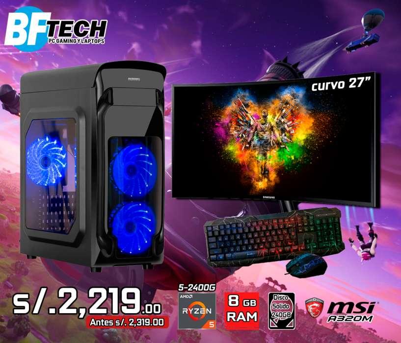 PC GAMING RYZEN 5 2400G 3.6GHz 15