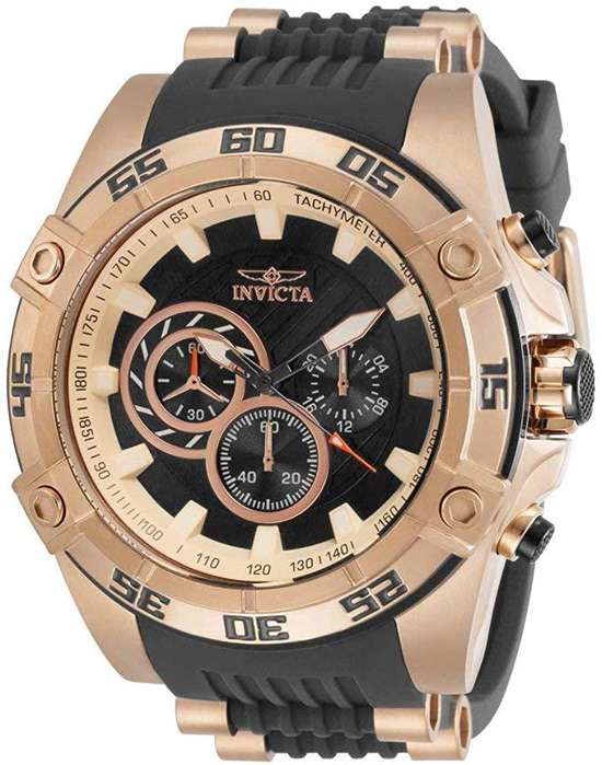 Reloj Hombre Invicta Speedway Oro Rosa Negro Crono 30109