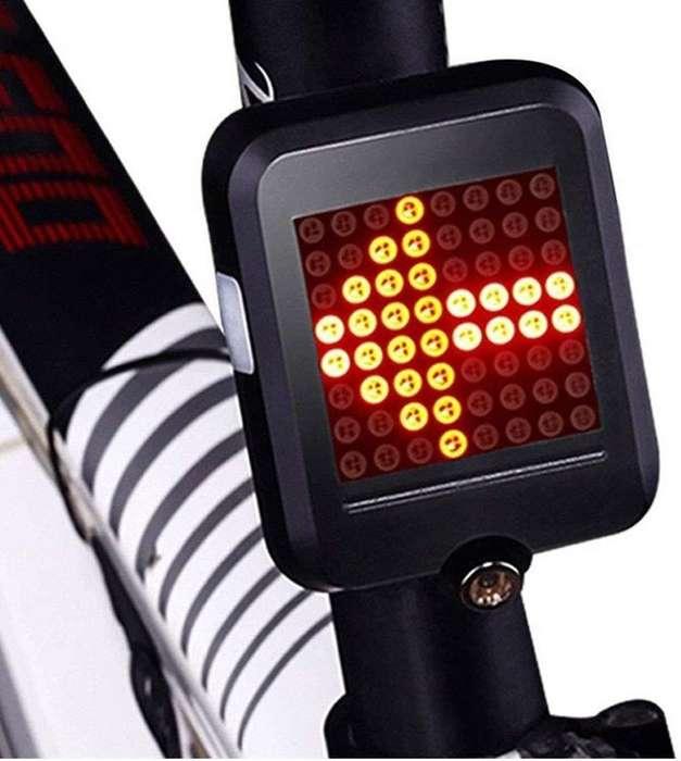 Luz Led Direccional Bicicleta Inteligente Recargable Usb