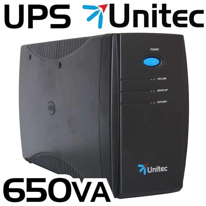 UPS Interactiva 650 VA UNITEC regulador automático de Voltaje y picos