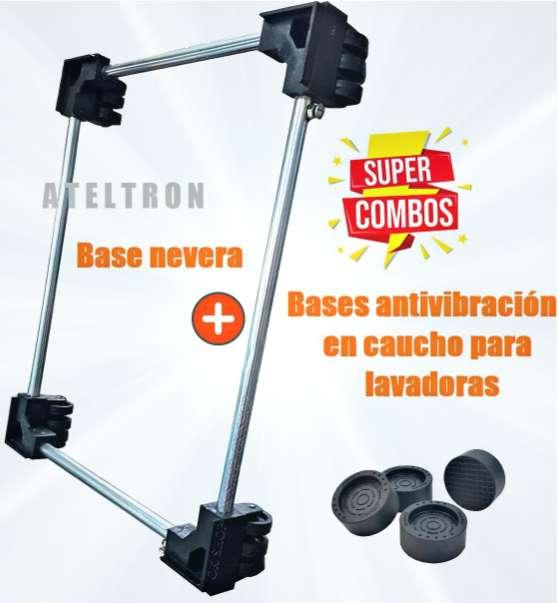 Bases extensibles con ruedas neveras muebles estufas súper combo anti vibración lavadoras.