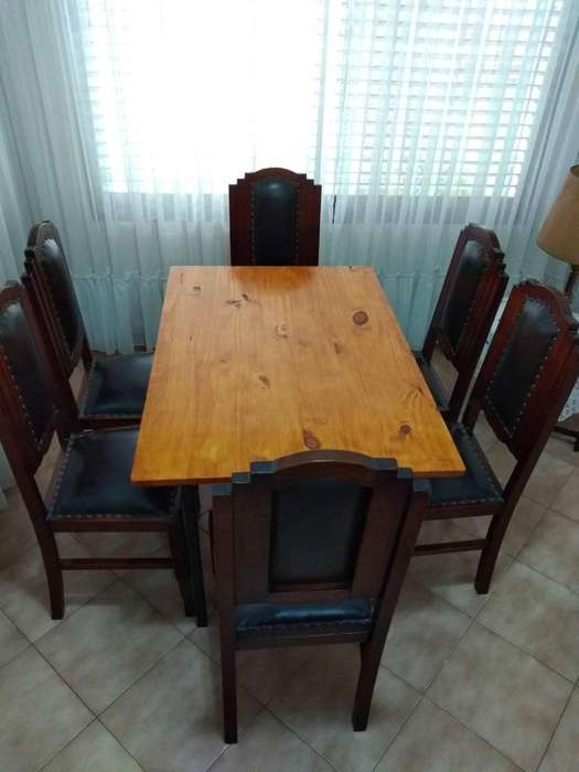 Mesa comedor de hierro y madera industrial