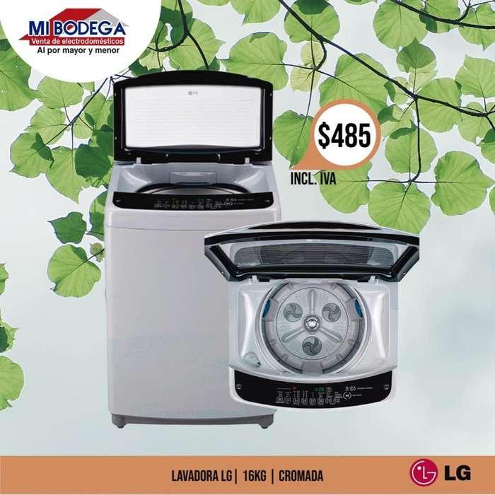 <strong>lavadora</strong> LG TURBODRUM 16KG CARGA SUPERIOR CROMADA