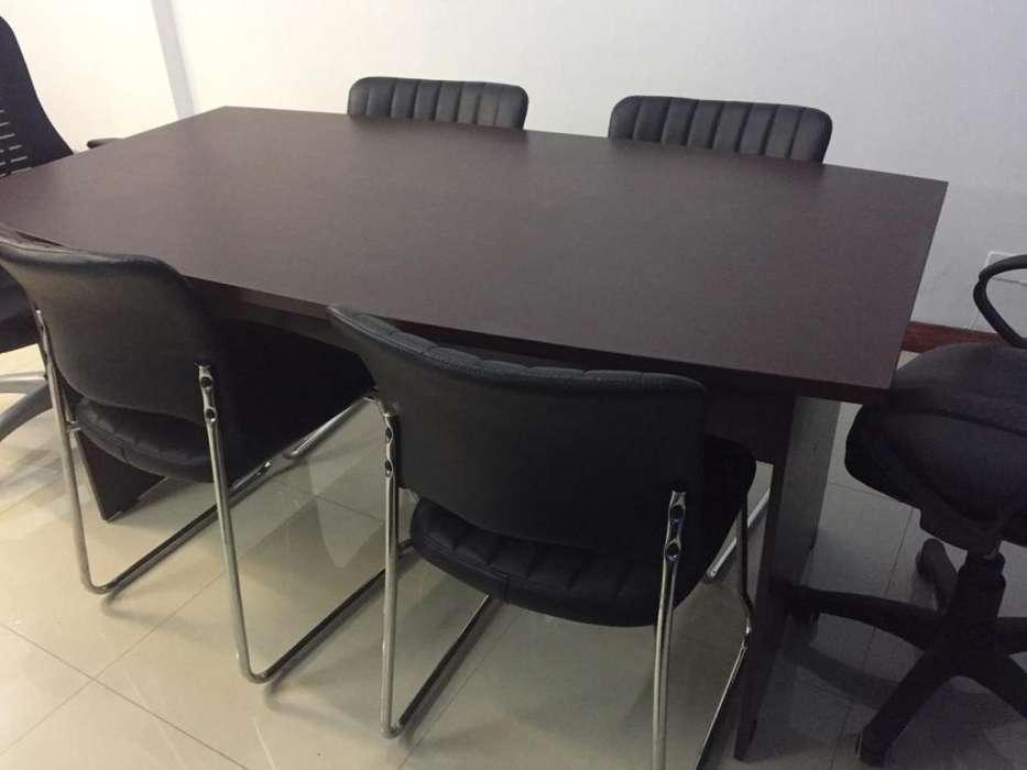 mesa de reuniones con sillas, marca: Office Systems