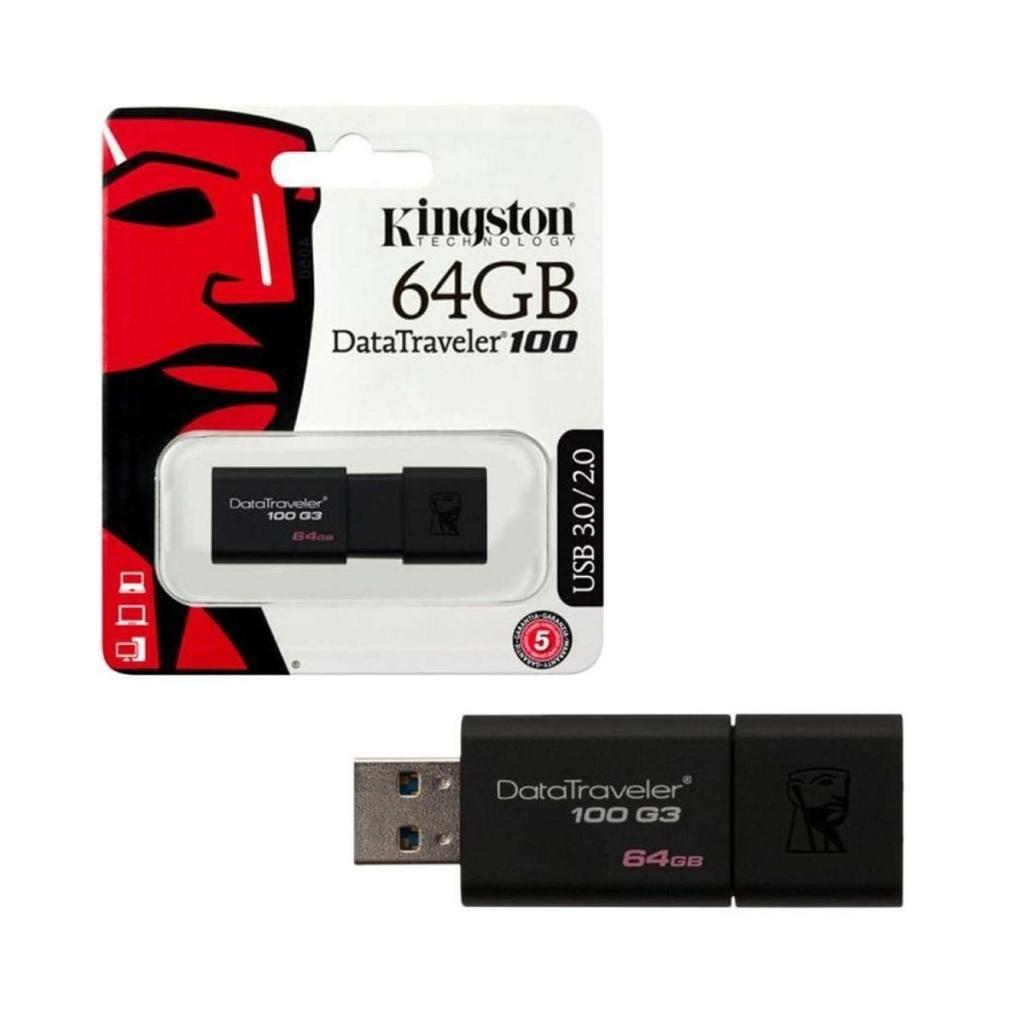 MEMORIA USB 64GB DATATRAVELER 100 - USB 3.0 / 2.0 - KINGSTON