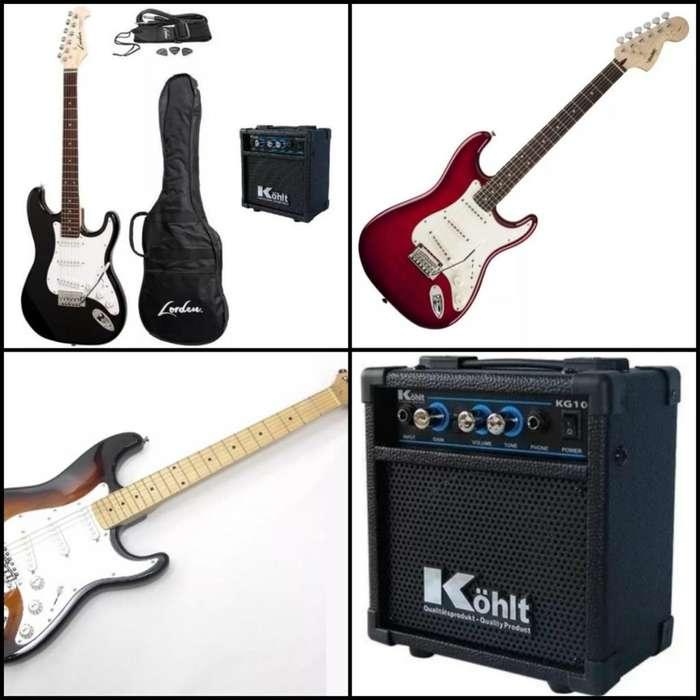 Combo Guitarra Electrica Stratocaster