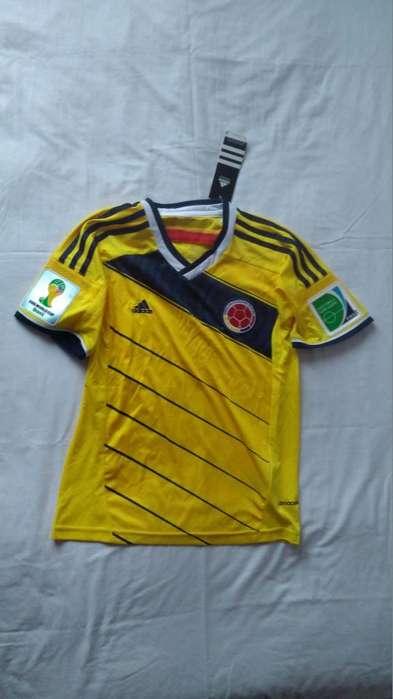 Camiseta Selección Colombia Dama Mundial 2014 Talla S