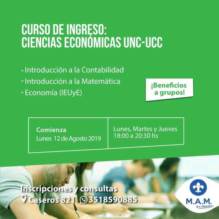 Curso de Ingreso: CIENCIAS ECONÓMICAS UNC-UCC