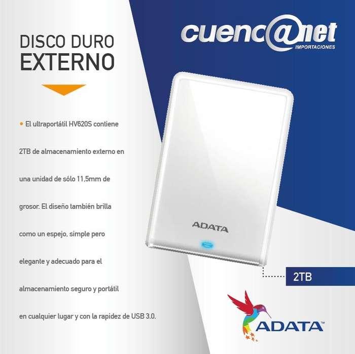 DISCO DURO EXTERNO 2TB 3.0 HV620 BLANCO METALIZADO ADATA