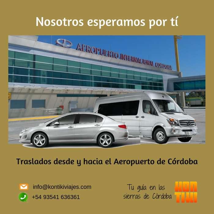 Traslados desde y hacia el aeropuerto de Córdoba. Salidas de Carlos Paz.