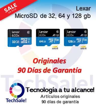 Microsd Memorias Lexar 64 gb Micro Sd Clase 10 memoria 633x Alto rendimiento