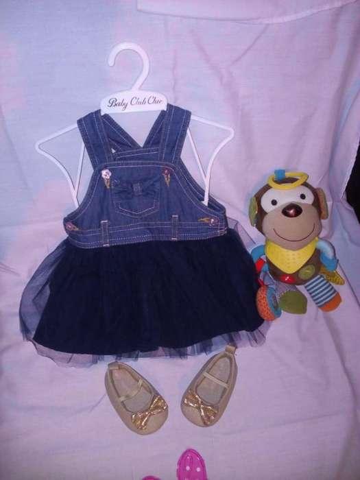 Vestido Jean con Tutu para Bebe