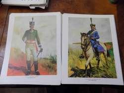 UNIFORMES MILITARES HISTORICOS LAMINA REPRODUCCION ROUX 2582