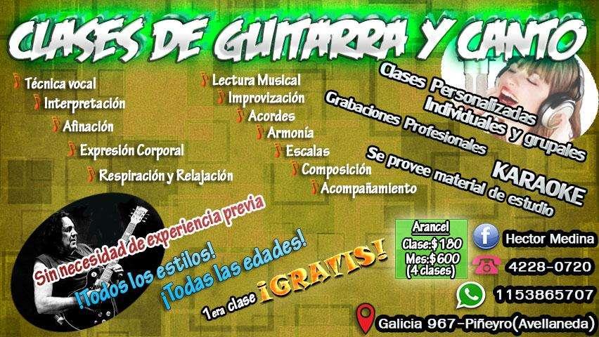 Clases de guitarra y canto. Primera clase GRATIS!!!
