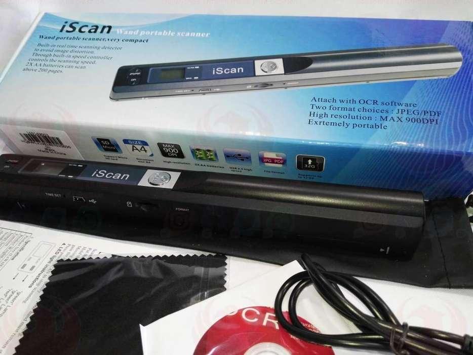 Escaner Portatil Para Documentos E Imagenes Iscan 900dpi Usb sin necesidad del pc