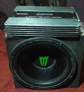 Gran Potencia 1800W 30.5cm Amplificado Active Subwoofer Sub Amp caja bajos