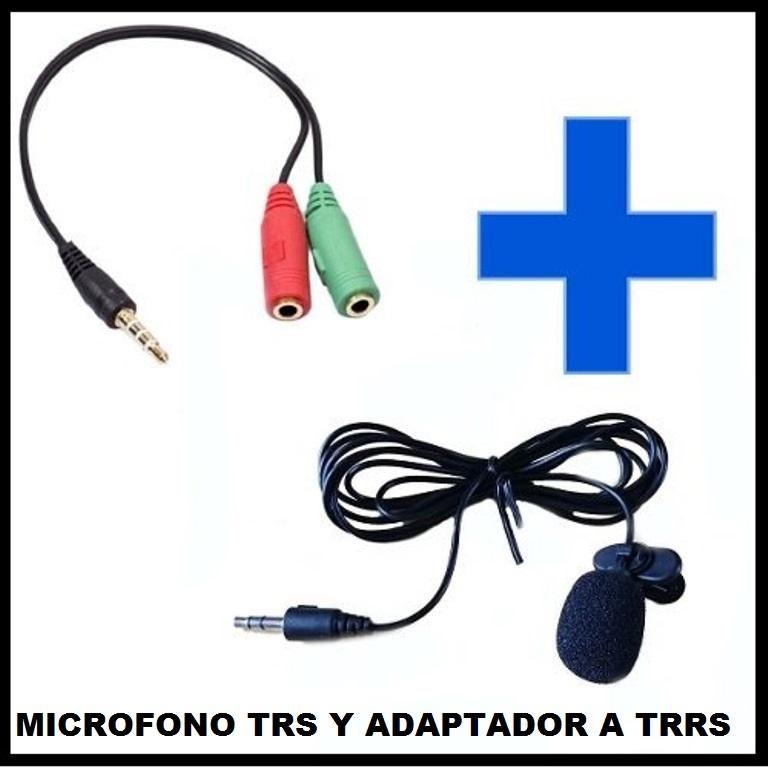 KIT MICROFONO DE SOLAPA TRS Y ADAPTADOR MICROFONO A TRRS.
